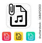 attached audio file icon....