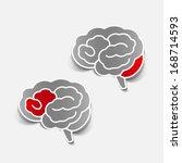 brain sticker  realistic design ... | Shutterstock .eps vector #168714593