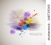 blue  green  purple ink stains... | Shutterstock .eps vector #168719243