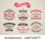 set of calligraphic elements of ... | Shutterstock .eps vector #168723077
