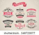 set of calligraphic elements of ... | Shutterstock .eps vector #168723077