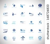 water and drop icons set  ... | Shutterstock .eps vector #168726833