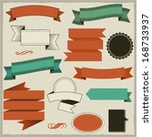 design elements  banners and...   Shutterstock .eps vector #168733937