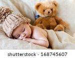 little baby boy  sleeping | Shutterstock . vector #168745607