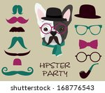 hipster party | Shutterstock .eps vector #168776543