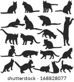 Vector Silhouettes Of Cats...