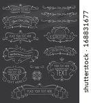 vintage calligraphy chalkboard... | Shutterstock .eps vector #168831677
