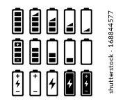 battery icon set.  raster... | Shutterstock . vector #168844577