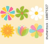 Colorful Vector Flowers