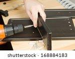 furniture fitter | Shutterstock . vector #168884183
