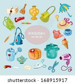 vector set with everyday common ... | Shutterstock .eps vector #168915917