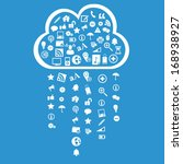 web icon rain and cloud  ... | Shutterstock .eps vector #168938927