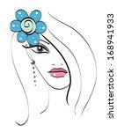 beautiful girl's doodle... | Shutterstock .eps vector #168941933