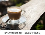 coffee laid on wooden terrace...   Shutterstock . vector #168944657