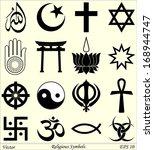 religious symbols | Shutterstock .eps vector #168944747