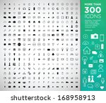 more than 300 icons  web ...