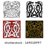 ancient celtic ornament with... | Shutterstock . vector #169018997