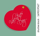 vector red heart valentines day | Shutterstock .eps vector #169019567