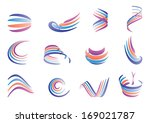 abstract vector color waves set. | Shutterstock .eps vector #169021787