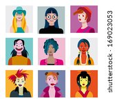 varied set of young characters  ... | Shutterstock .eps vector #169023053