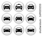 car icons white plastic button... | Shutterstock . vector #169035353