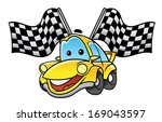car race flag | Shutterstock . vector #169043597