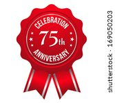red seventy five year... | Shutterstock .eps vector #169050203