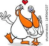 valentines day cartoon vector... | Shutterstock .eps vector #169064237