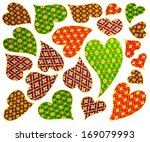 isolate heart pattern on the... | Shutterstock . vector #169079993