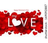 overlapping heart shapes... | Shutterstock .eps vector #169092887