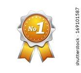 no 1 yellow seal vector icon | Shutterstock .eps vector #169101587