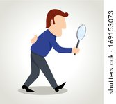 simple cartoon of a man figure... | Shutterstock .eps vector #169153073