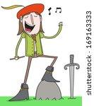 medieval fantasy elf bard... | Shutterstock .eps vector #169163333