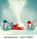 christmas winter background... | Shutterstock . vector #169172807