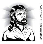 jesus christ portrait... | Shutterstock .eps vector #169182197