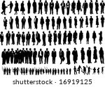 106 people black | Shutterstock .eps vector #16919125
