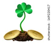 clover sprout growing out of... | Shutterstock .eps vector #169220417