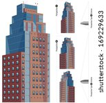 modern cartoon buildings in... | Shutterstock .eps vector #169229633