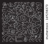 hand drawn doodle vector objects | Shutterstock .eps vector #169258373