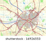 detailed generic map with no... | Shutterstock . vector #16926553