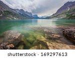rain storm over st. mary lake ...   Shutterstock . vector #169297613