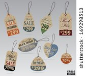 sale tags and price tags... | Shutterstock .eps vector #169298513