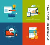 set of flat design concept... | Shutterstock .eps vector #169337963