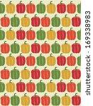 cute seamless vegetable pattern ... | Shutterstock .eps vector #169338983