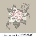 rose motif vector ornamental... | Shutterstock .eps vector #169353047