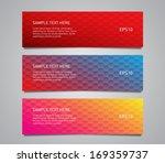 set of vector paper banners... | Shutterstock .eps vector #169359737