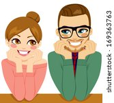 lovely young couple looking... | Shutterstock .eps vector #169363763