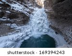 Frozen Waterfalls In Canadian...