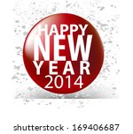 happy new year icon with grunge ... | Shutterstock .eps vector #169406687
