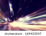 Abstract Image Of Night Traffi...